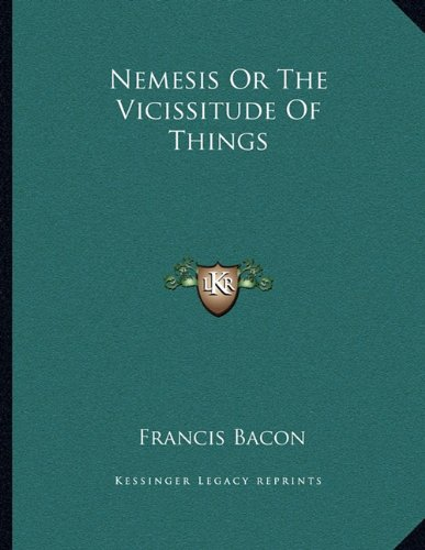 9781163002742: Nemesis Or The Vicissitude Of Things