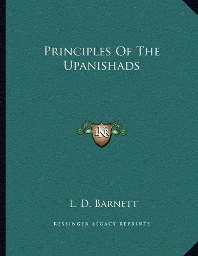 Principles Of The Upanishads: Barnett, L. D.