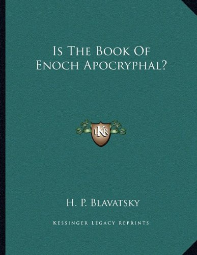 9781163005743: Is The Book Of Enoch Apocryphal?