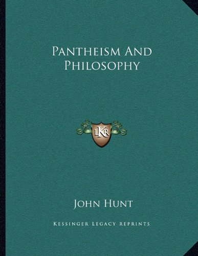9781163032138: Pantheism And Philosophy