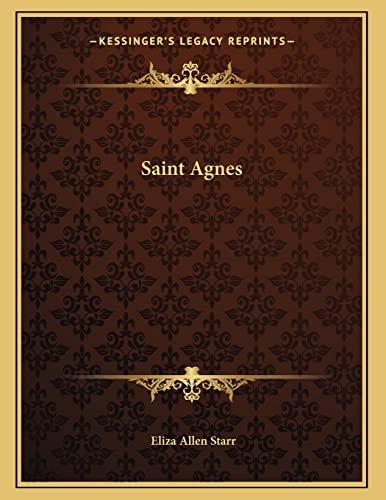 9781163057223: Saint Agnes