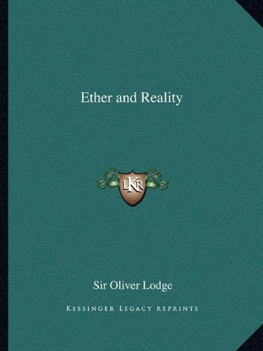 9781163073704: Ether and Reality