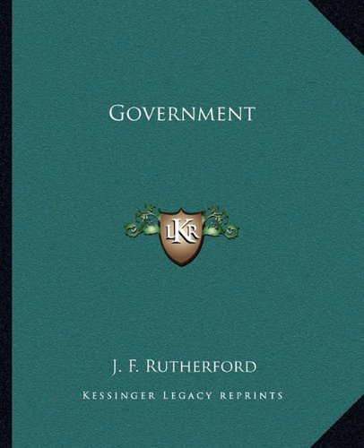 9781163073896: Government