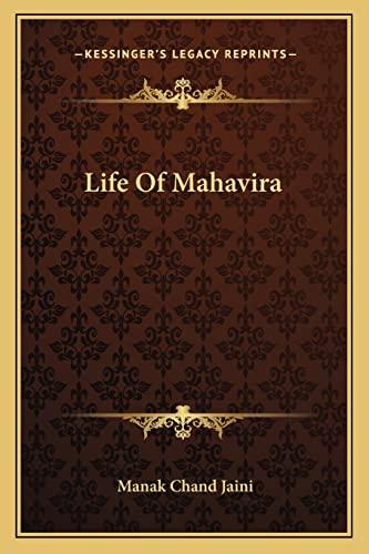 9781163080535: Life Of Mahavira