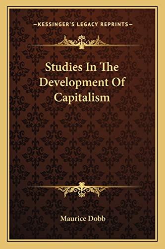 9781163133651: Studies In The Development Of Capitalism