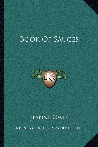 9781163136348: Book Of Sauces
