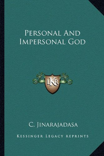9781163145876: Personal And Impersonal God