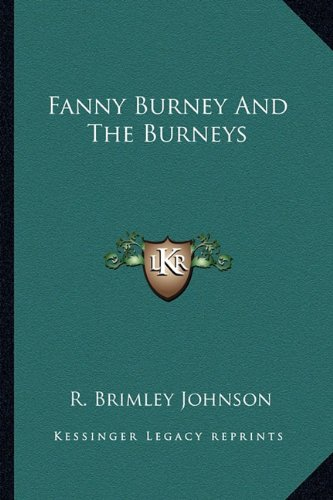 9781163147863: Fanny Burney And The Burneys