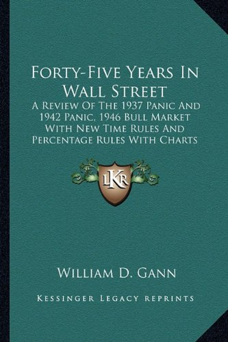 9781163148471: Forty-Five Years In Wall Street: A Review Of The 1937 Panic And 1942 Panic, 1946 Bull Market With New Time Rules And Percentage Rules With Charts For Determining The Trend On Stocks