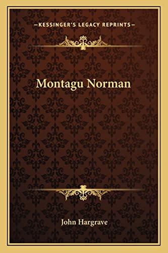9781163153253: Montagu Norman
