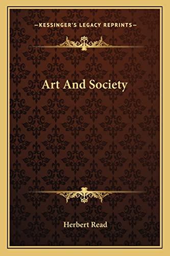 9781163159293: Art And Society