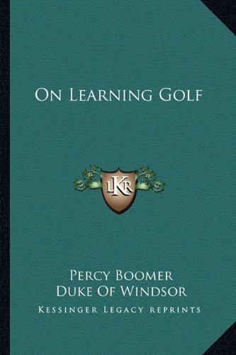 9781163162071: On Learning Golf