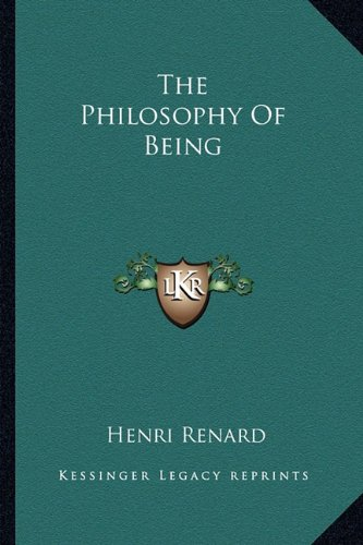 9781163179185: The Philosophy Of Being