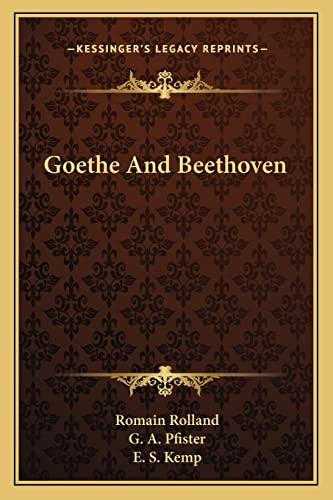 9781163182970: Goethe And Beethoven