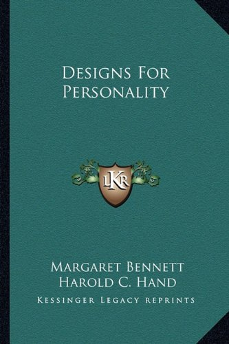 9781163183472: Designs For Personality