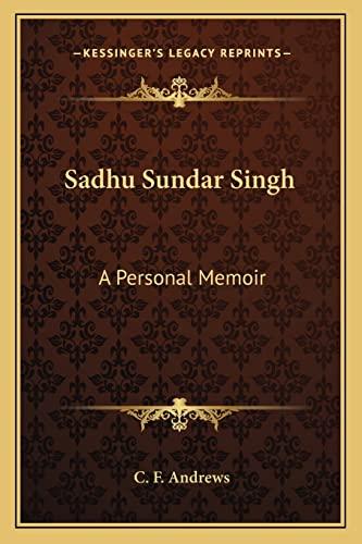 sadhu sundar singh book