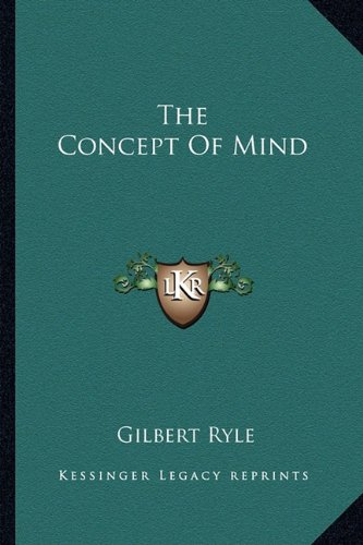 9781163186954: The Concept Of Mind