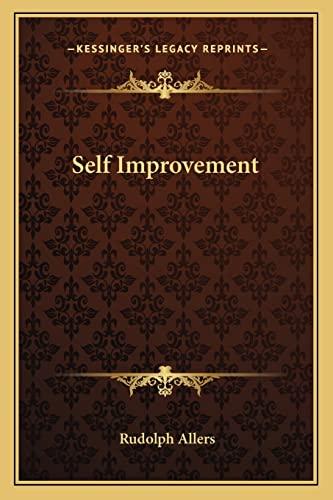 9781163191187: Self Improvement