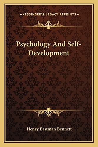 9781163193501: Psychology And Self-Development