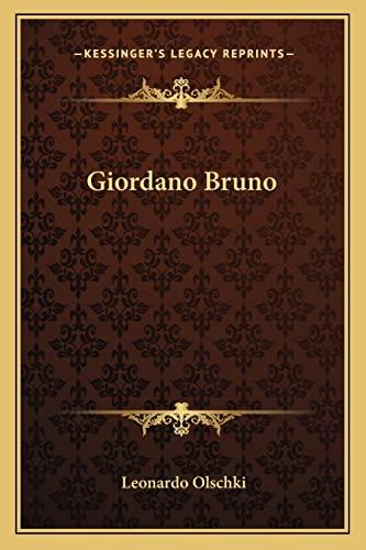 9781163197998: Giordano Bruno