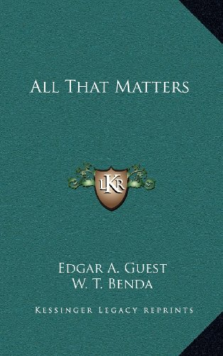 9781163200872: All That Matters