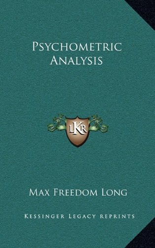 9781163203675: Psychometric Analysis