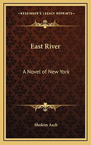 9781163210222: East River: A Novel of New York