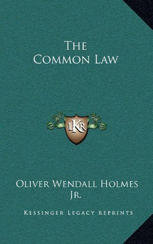 9781163210376: The Common Law