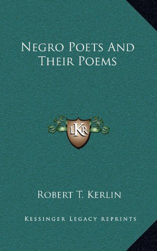 9781163217269: Negro Poets And Their Poems