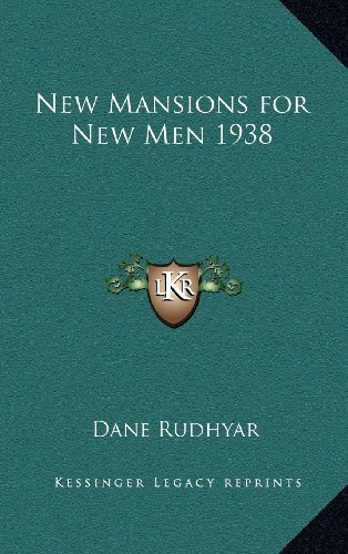 9781163217368: New Mansions for New Men 1938