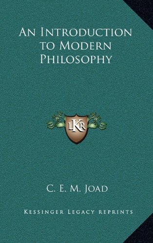 9781163218617: An Introduction to Modern Philosophy