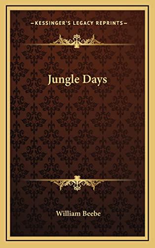 9781163220078: Jungle Days