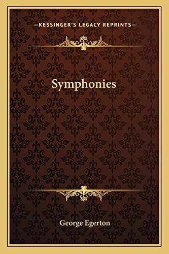 9781163235782: Symphonies