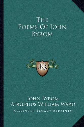 9781163238530: The Poems Of John Byrom