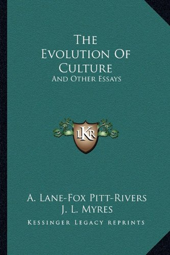 9781163270417: The Evolution Of Culture: And Other Essays