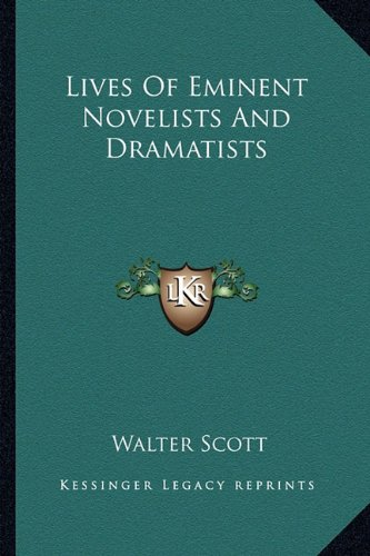 9781163309889: Lives of Eminent Novelists and Dramatists