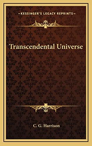 9781163315293: Transcendental Universe