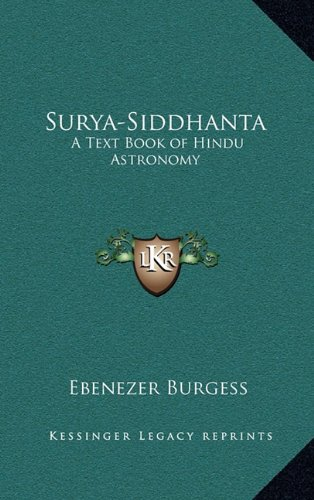 9781163316382: Surya-Siddhanta: A Text Book of Hindu Astronomy