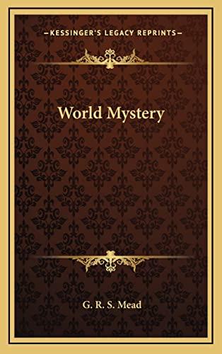 9781163322901: World Mystery