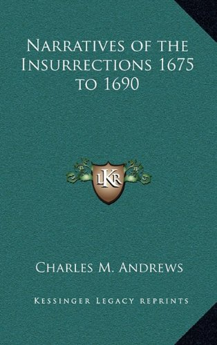 9781163346341: Narratives of the Insurrections 1675 to 1690