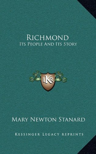 9781163358405: Richmond: Its People And Its Story