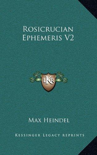 9781163367148: Rosicrucian Ephemeris V2