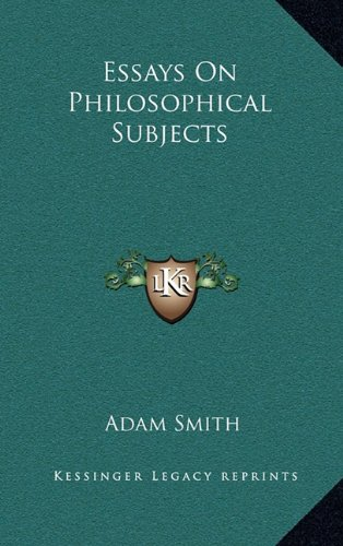 9781163388075: Essays On Philosophical Subjects