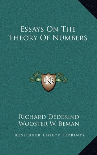 9781163398012: Essays On The Theory Of Numbers