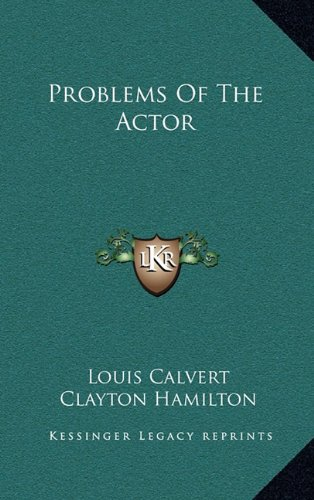 9781163410035: Problems of the Actor