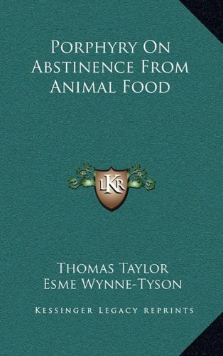 9781163420898: Porphyry On Abstinence From Animal Food
