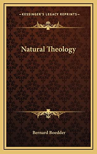 9781163421376: Natural Theology