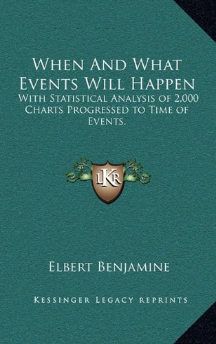 9781163422465: When And What Events Will Happen: With Statistical Analysis of 2,000 Charts Progressed to Time of Events.