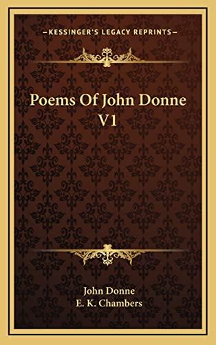 9781163428283: Poems Of John Donne V1