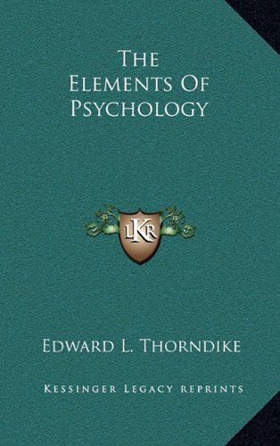 9781163439074: The Elements Of Psychology